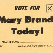 Image of Promotional Voting Card for Mary Brandt