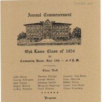 Image of Cook School Graduation Program, 1924