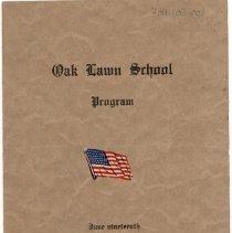 Image of Cook School Graduation Program, 1917