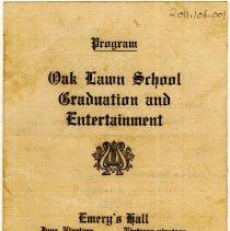 Image of Cook School Graduation Program, 1919