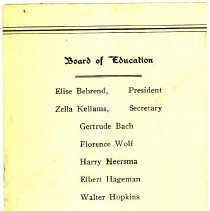 Image of Announcement for Cook School Graduation, 1932