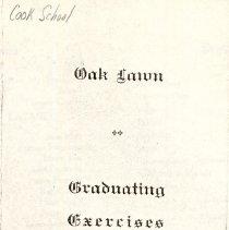 Image of Cook School Graduation Program, 1914