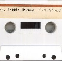 Image of Harnew, Lettie - Oral History Interview - This item is an oral history interview with Lettie Harnew, an early resident and wife of William Harnew. It covers her life and experiences in the village, and the interview is approximately forty-six minutes long.