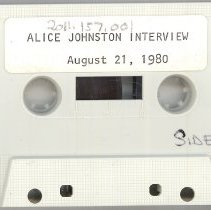 Image of Johnston, Alice - Oral History Interview