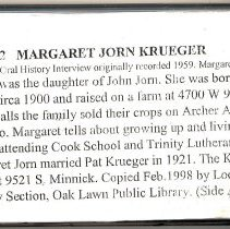 Image of Krueger, Margaret (Jorn) - Oral History Interview