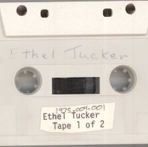 Image of Tucker, Ethel - Oral History Interview - This item is an oral history interview with Ethel Tucker.  It is approximately fifty-five minutes long and covers her life and experiences in the Village.