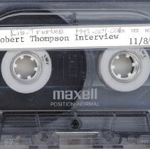 Image of Thompson, Robert - Interview