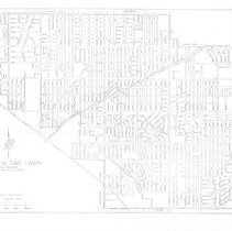 Image of 1989 Map of Oak Lawn - This item is a map of Oak Lawn revised on January 1st, 1989.  It is black and white in color and was prepared by the Office of Quality Control.