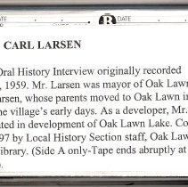 Image of Larsen, Carl - Oral History Interview