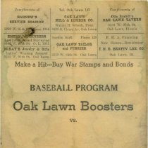 "Image of Oak Lawn ""Boosters"" Baseball Program"
