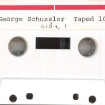 Image of Schussler, George H. - Oral History Interview - This item is an oral history interview with George H. Schussler. It describes his life and experiences during the village's earliest days.  The interview is approximately fifty-three minutes in length.