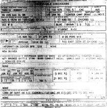 Image of Robert J. Twohig Discharge Papers