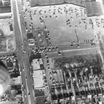 Image of Aerial Photograph of 95th Street and Cicero Avenue - This is an aerial photograph of 95th Street and Cicero Avenue looking east as the intersection appeared in April of 1963.