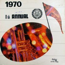 Image of 11th Annual Chicagoland Jazz Band Festival Record, 1970 - This item is a 33 1/3 RPM record featuring the 11th annual Chicagoland Jazz Band Festival. It includes a number of tracks from junior high and high school bands, and was recorded at Oak Lawn Community High School.