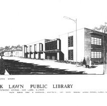 Image of Oak Lawn Public Library Architectural Drawing