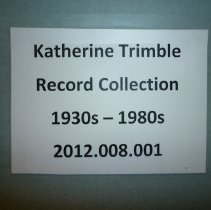 Image of Katherine Trimble Papers