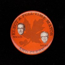 Image of Bacon and Meier Campaign Pin