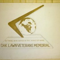 Image of Design Drawing for Proposed Oak Lawn Veteran's Memorial