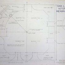 Image of Design Layout for the Proposed Oak Lawn Veteran's Memorial