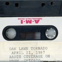 Image of WBBM Radio News Coverage - 1967 Tornado - This item is a recording of WBBM Radio news coverage regarding the 1967 Tornado. It contains interviews with survivors, commentary by reporters and is approximately thirty-two minutes in length.