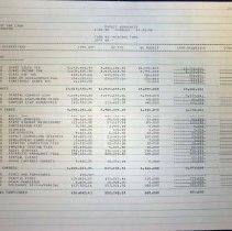 Image of Budget Worksheet, 1998