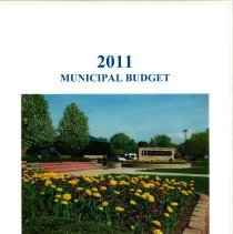 Image of Adopted Village Budget, 2011 - This item is the Village of Oak Lawn 2011 municipal budget.  The document is 320 pages long, and contains charts, graphs and statistics related to village finances.  It is composed of plain white paper and has an image of the Village of Oak Lawn sign on the cover.