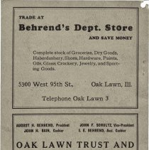 Image of 1926 Evergreen Park - Oak Lawn Telephone Directory