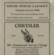 Image of 1929 Evergreen Park - Oak Lawn Telephone Directory