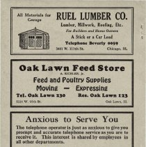 Image of 1932 Evergreen Park - Oak Lawn Telephone Directory