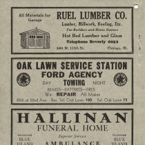 Image of 1934 Evergreen Park - Oak Lawn Telephone Directory