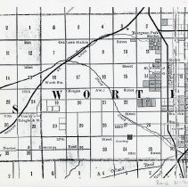 Image of 1882 Map of Worth Township