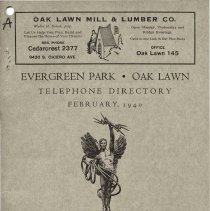 Image of 1940 Evergreen Park - Oak Lawn Telephone Directory