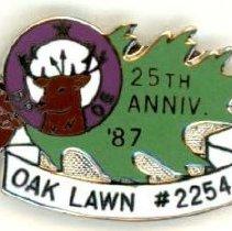 Image of B.P.O. Elks Lodge Anniversary Pin