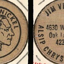 Image of Alsip Chrysler Plymouth Wooden Nickel