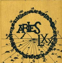 Image of Aries, 1970 - This item is the 1970 yearbook from Reavis High School located in Burbank.  The cover is yellow in color and features several different designs.