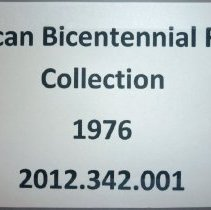 Image of Bicentennial Celebration Records, 1976 - This item is a collection of records from the 1976 American Bicentennial celebration.  It contains documents, newspaper clippings, correspondence, photographs, and other items related to the event.