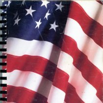 Image of St. Gerald Yearbook, 1996 - This item is the 1995 - 1996 St. Gerald yearbook.  The front has an image of the American flag.