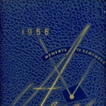 Image of Aries, 1956 - This item is the 1956 yearbook from Reavis High School located in Burbank.  The cover is blue in color and features several different designs.