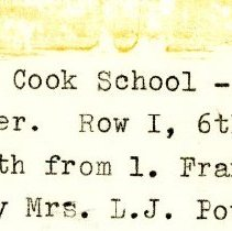 Image of 1932 Cook School First Grade Class Photograph Caption