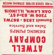 Image of Atwell Company Matchbook
