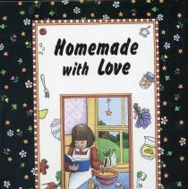 Image of Homemade With Love - This item is a cookbook compiled by the Covington School Parent Teacher Association. The cover features an image of a woman mixing ingredients.