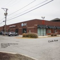 Image of 95th Street Oak Lawn - This is a photograph of the rear of AT&T and ATI Physical Therapy located on 95th Street and Cook Avenue.