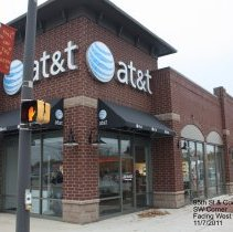 Image of 95th Street Oak Lawn - This is a photograph of the AT&T store located on the corner of 95th Street and Cook Avenue.