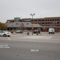 Image of 95th Street Oak Lawn - This is a photograph of the Metra Train Station and Municipal Parking Garage located on 95th Street between 52nd Avenue and Tully Avenue.