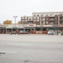Image of 95th Street Oak Lawn - This is a photograph of Nancy's Pizza, Al's Italian Beef, Salon and Day Spa, Cold Stone Ice Cream, Chiro One, and Bank of America located on 95th Street between 51st Avenue and Tulley Avenue.