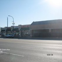 Image of 95th Street Oak Lawn - This is a photograph of Chiro-Med, Flexeon Rehabilitation, and Bedding Experts located on the southwest corner of 95th Street and Cicero Avenue.