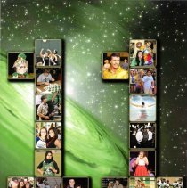 Image of Shield, 2011 - This item is an Oak Lawn Community High School yearbook from 2011.  The cover is black and green in color with several images forming the number eleven.