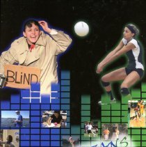 Image of Shield, 2012 - This item is an Oak Lawn Community High School yearbook from 2012.  The cover is black, green, and blue in color with several different images of students.