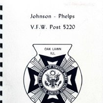Image of Album Directory - Photographic directory of the members of Johnson-Phelps V.F.W. Post 5220, located at 9510 S. 55th Court.  Also includes a membership list containing names, addresses, and telephone numbers.