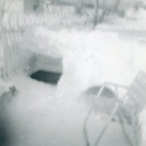 Image of 1967 Snowstorm - This is a photograph of the 1967 Snowstorm which blanketed the Chicago area, including Oak Lawn, with several feet of snow.  It was taken at 8736 South Sproat Avenue and features a snow fort.